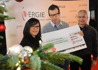 """€ 3.200 aus Spendenaktion """"1 Euro oder mehr"""" der N-ERGIE AG"""