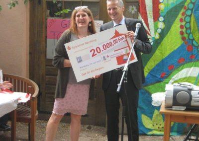 Großzügige Spende der Zukunftsstiftung der Sparkasse ermöglicht Renovierung der HPT 2015