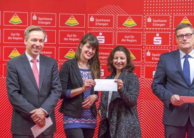 Spendenübergabe Sparkasse Erlangen 2017